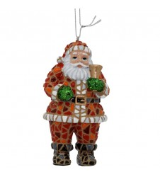 Santa in Trencadis Tree ornament