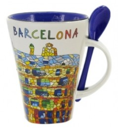 La Pedrera Mug with Spoon