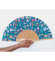 Barcelona Icons Hand Fan