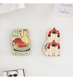 Catalonia Culture Wooden Magnet Set