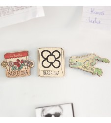 Barcelona Icons Wooden Magnet Set