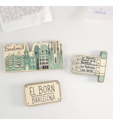 Wander around Barcelona Magnet Set