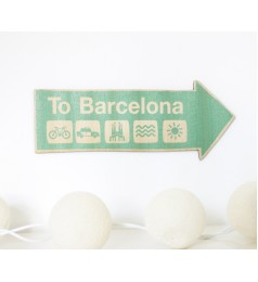 To Barcelona Wall Decor