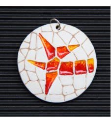 Ceramic Pendant with Trencadis detail