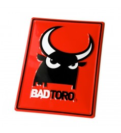 Red Metal Plate BadToro