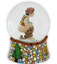 Caganer Snow Ball with trencadis