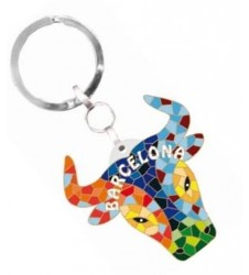 Trencadis Bull head in your keyring