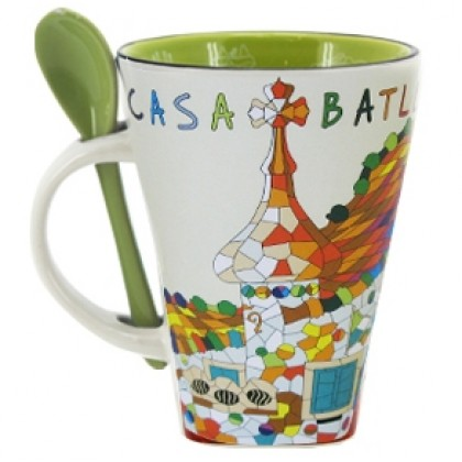 Casa Batlló Mug with Spoon