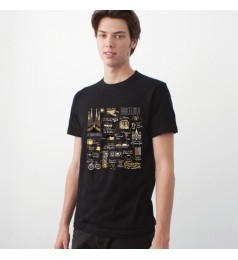 Illustrated Map Barcelona Unisex T-Shirt