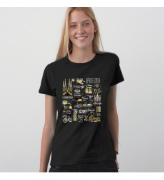 Illustrated Map Barcelona Woman T-Shirt
