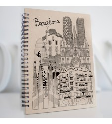 Sketching Barcelona Recycling Notebook
