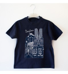 Sketching Barcelona Kid T-Shirt
