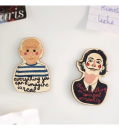 Picasso and Dalí Wooden Magnet Set