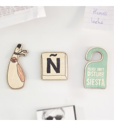 Very Spanish Wooden Magnet Set