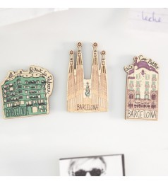 Barcelona Gaudi's Buildings Magnet Set