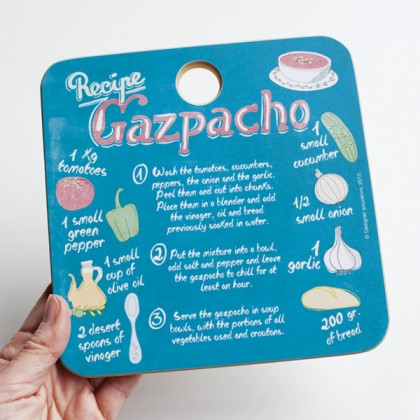Gazpacho Recipe Wooden Deco Heat Mat Trivet